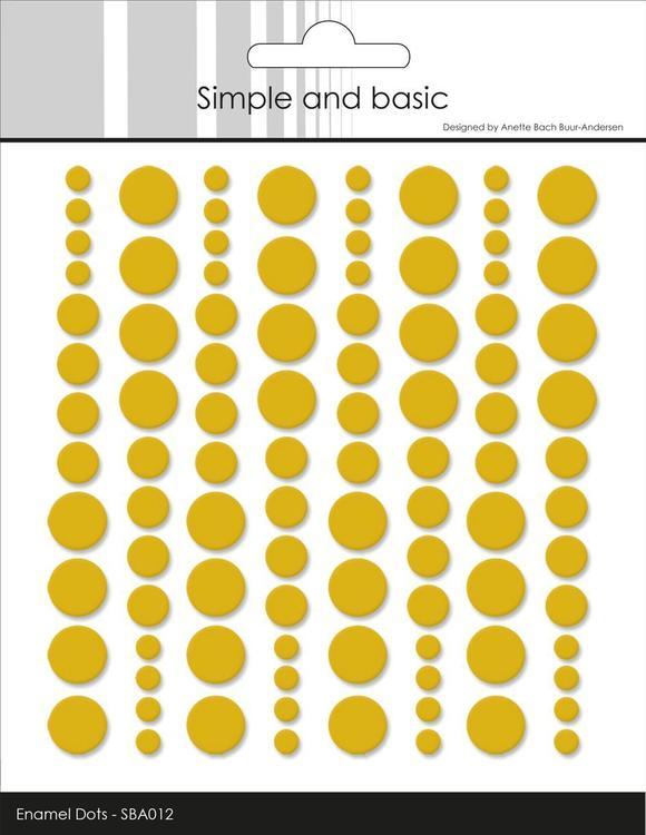 Enamel Dots SBA012 Mustard