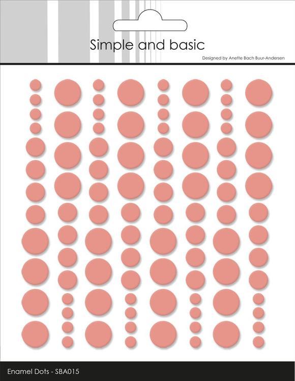 Enamel Dots SBA015 Fresh peach