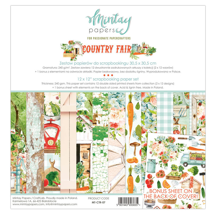 Country Fair papperspad 12x12