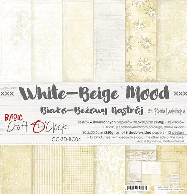 White Beige mood 12x12