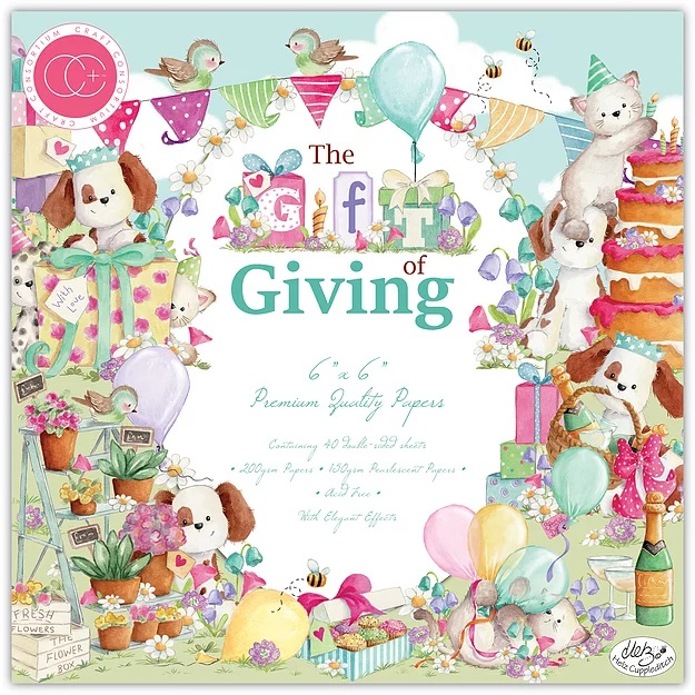 The gift of giving 6x6 papperspad