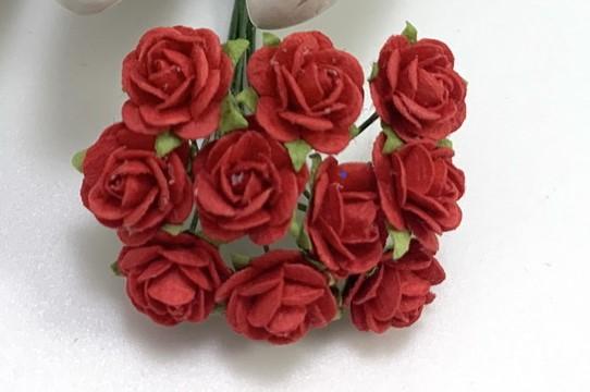 Röda mullberry rosor 10 st/ 1 cm