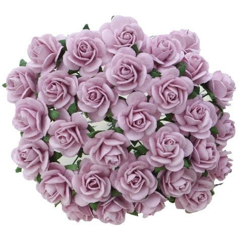 Soft lilac mullberry roses 10 St/ 1.5 cm