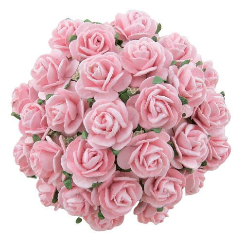 Soft pink mullberry roses 10 st / 1.5 cm