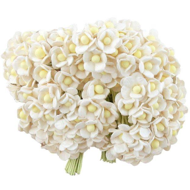 Vita små blommor  10 st / 1.5cm