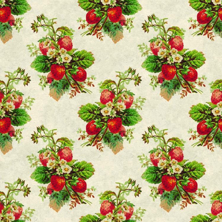 256 Vintage jordgubbe
