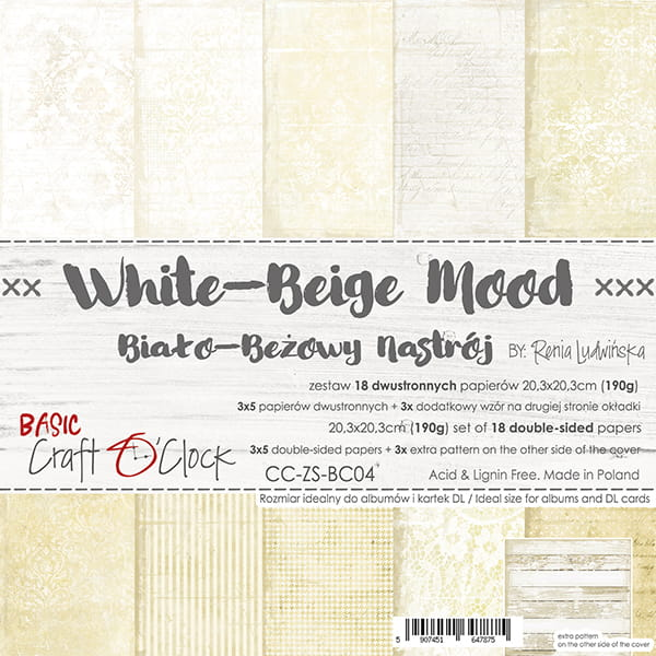 White Beige mood 8x8