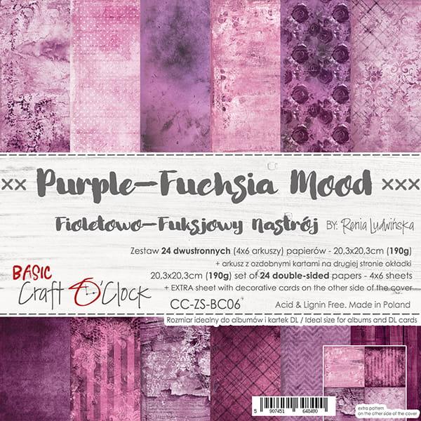 Purple Fuchsia Mood 8x8