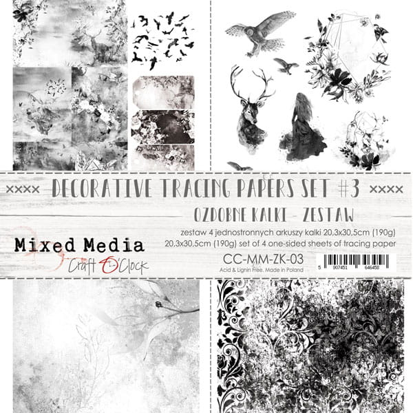 DECORATIVE TRACING PAPERS SET - 03