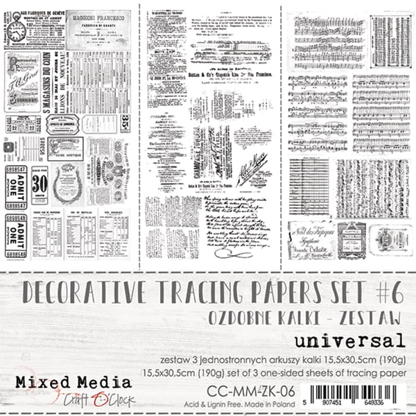 DECORATIVE TRACING PAPERS SET - 06 - UNIVERSAL