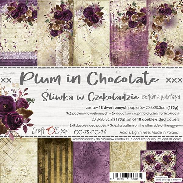 Plum in Chocolate 8x8