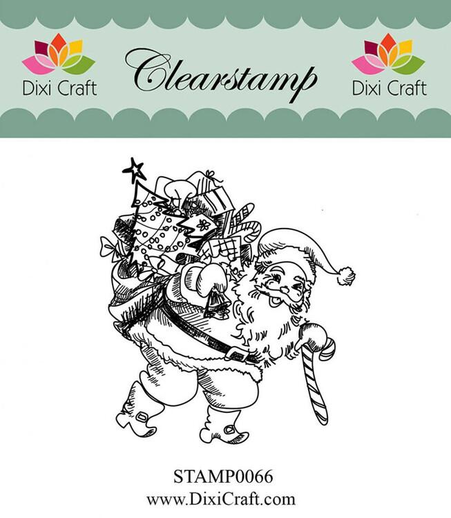 Clearstamp Tomte med säck 0066