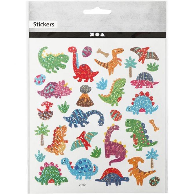 Stickers Dino glitter