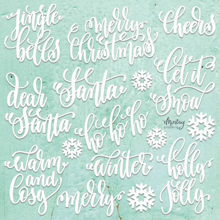 Mintays Chippies christmas words