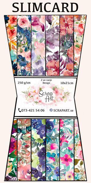 Colourfull flowers slimline