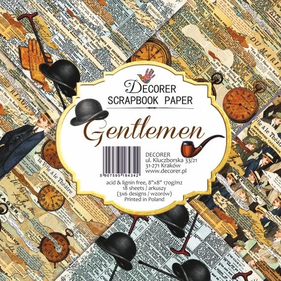 Gentlemen 8x8 papperspad