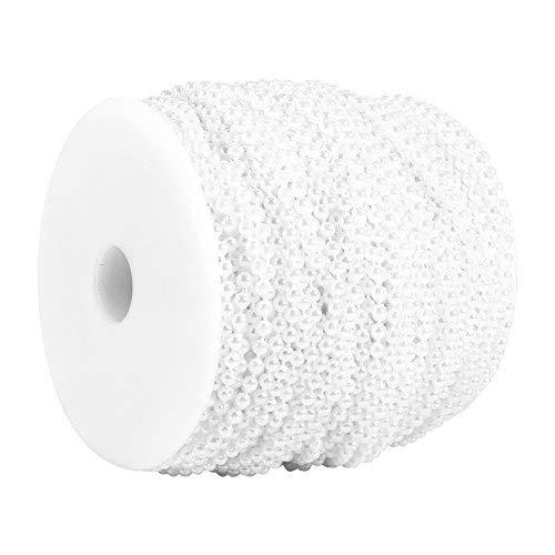 Vita pärlor på tråd 3 mm