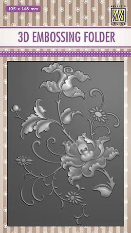 3D Embossingfolder Exotic flower