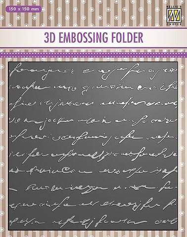 3D Embossingfolder Writing