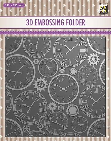 3D Embossingfolder Time