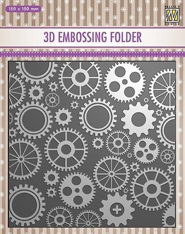 3D Embossingfolder Cogs