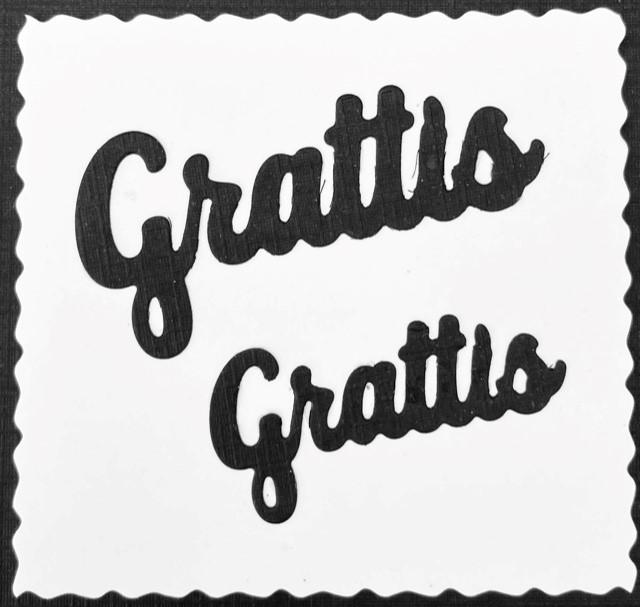LDD-001 Grattis 2 st