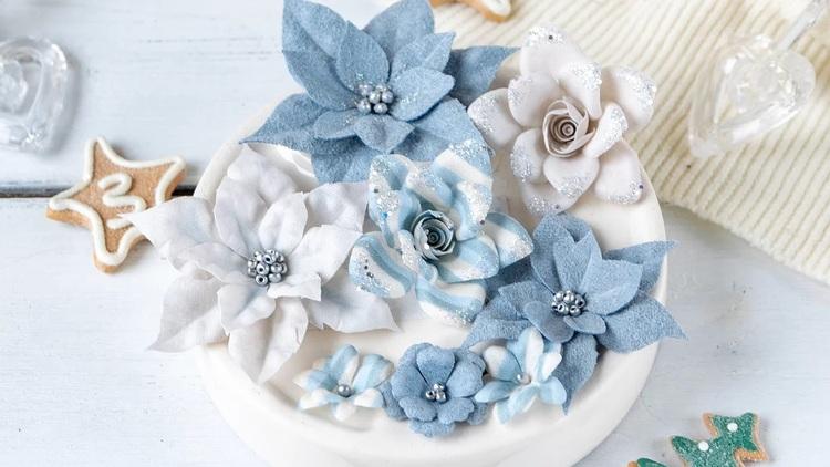 "Set of colors ""Fairytale winter"" blue HTT0003"
