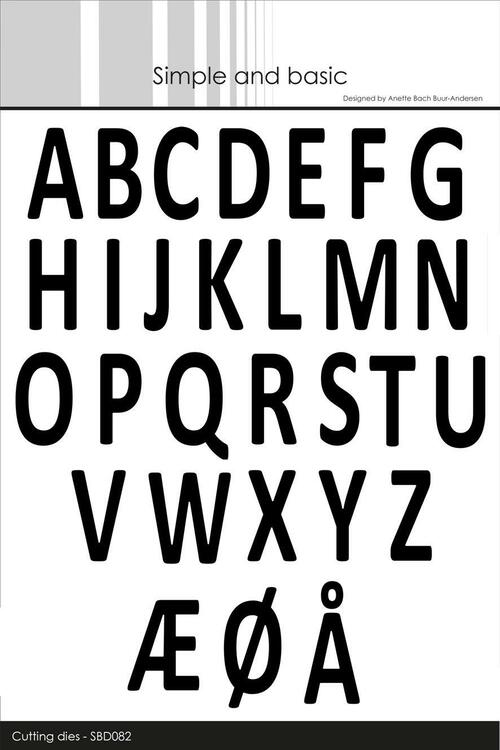 "Simple and Basic die ""Alphabet XXL""      SBD082"