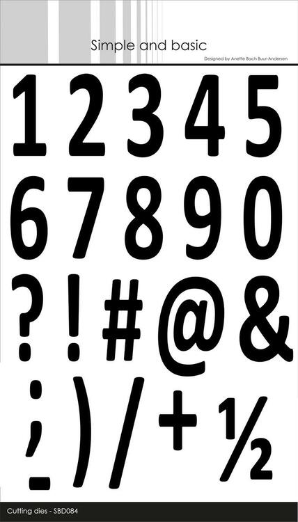 "Simple and Basic die ""Numbers XXL""    SBD084"