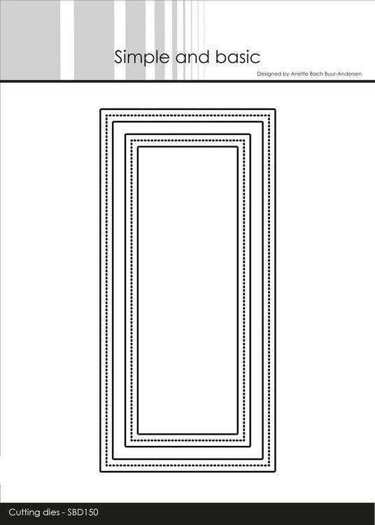 "Simple and Basic die ""Frames - Mini Slimcard"" SBD150"