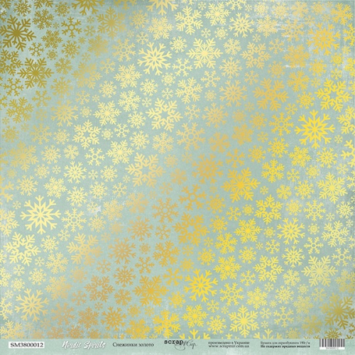 Snowflakes gold SM3800012