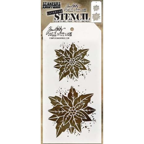 Tim Holtz Layered Stencil- Poinsettia Due