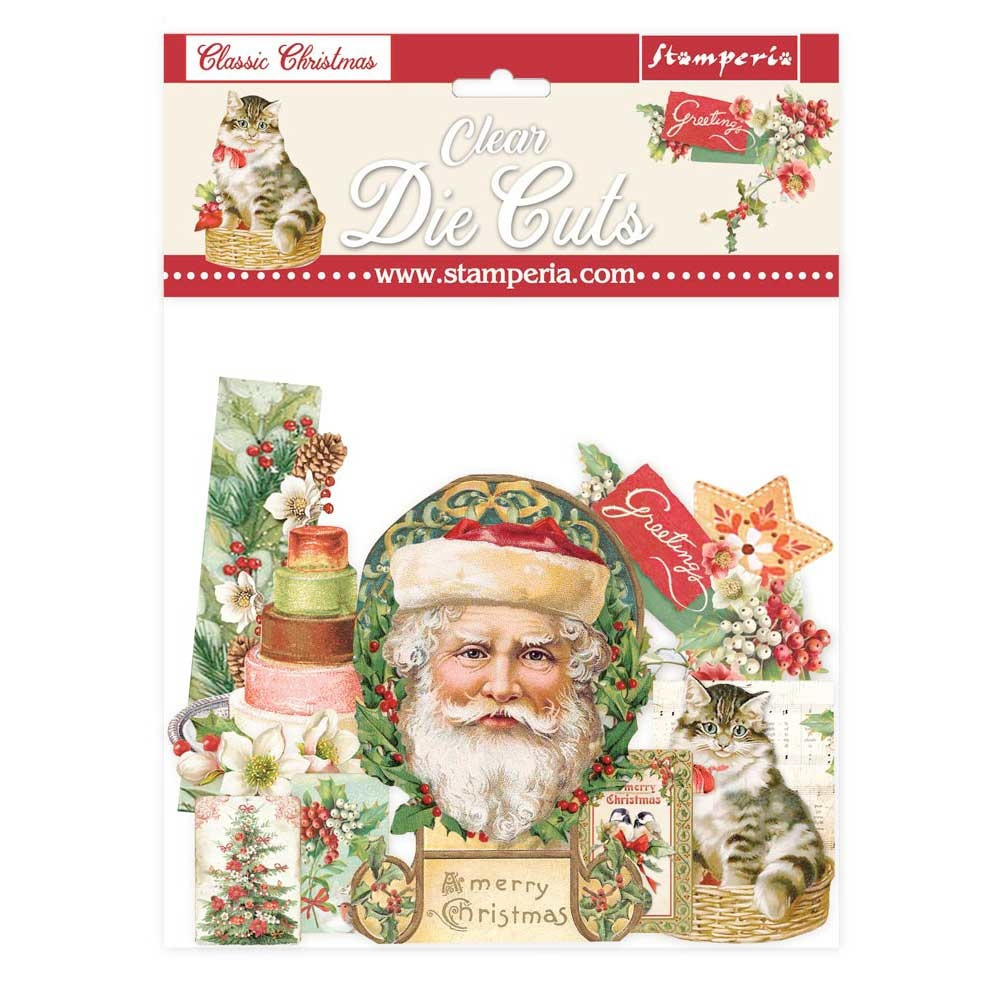 Stamperia Classic Christmas Clear Die Cuts