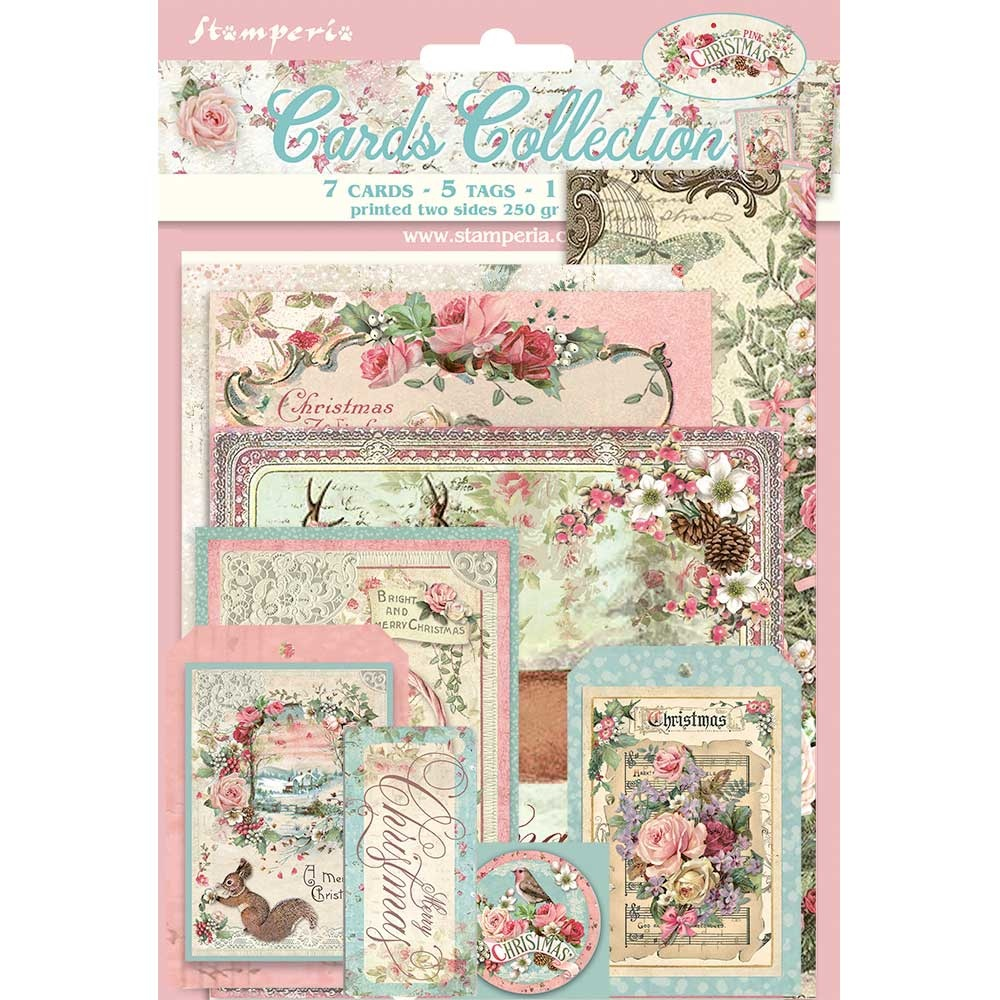 Stamperia Pink Christmas Cards