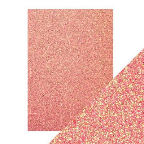 Craft Perfect A4 Glitter Card - Candy Floss
