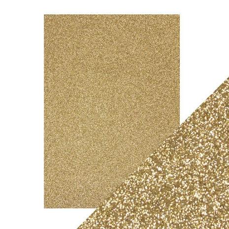 Craft Perfect A4 Glitter Card - Gold Dust