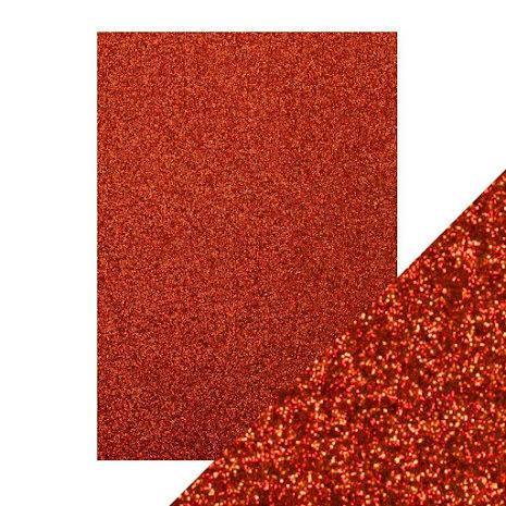 Craft Perfect A4 Glitter Card - Ruby Ritz
