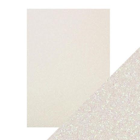 Craft Perfect A4 Glitter Card - Sugar Crystal