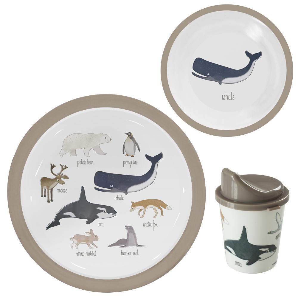 Melamin set - Arktiska djur