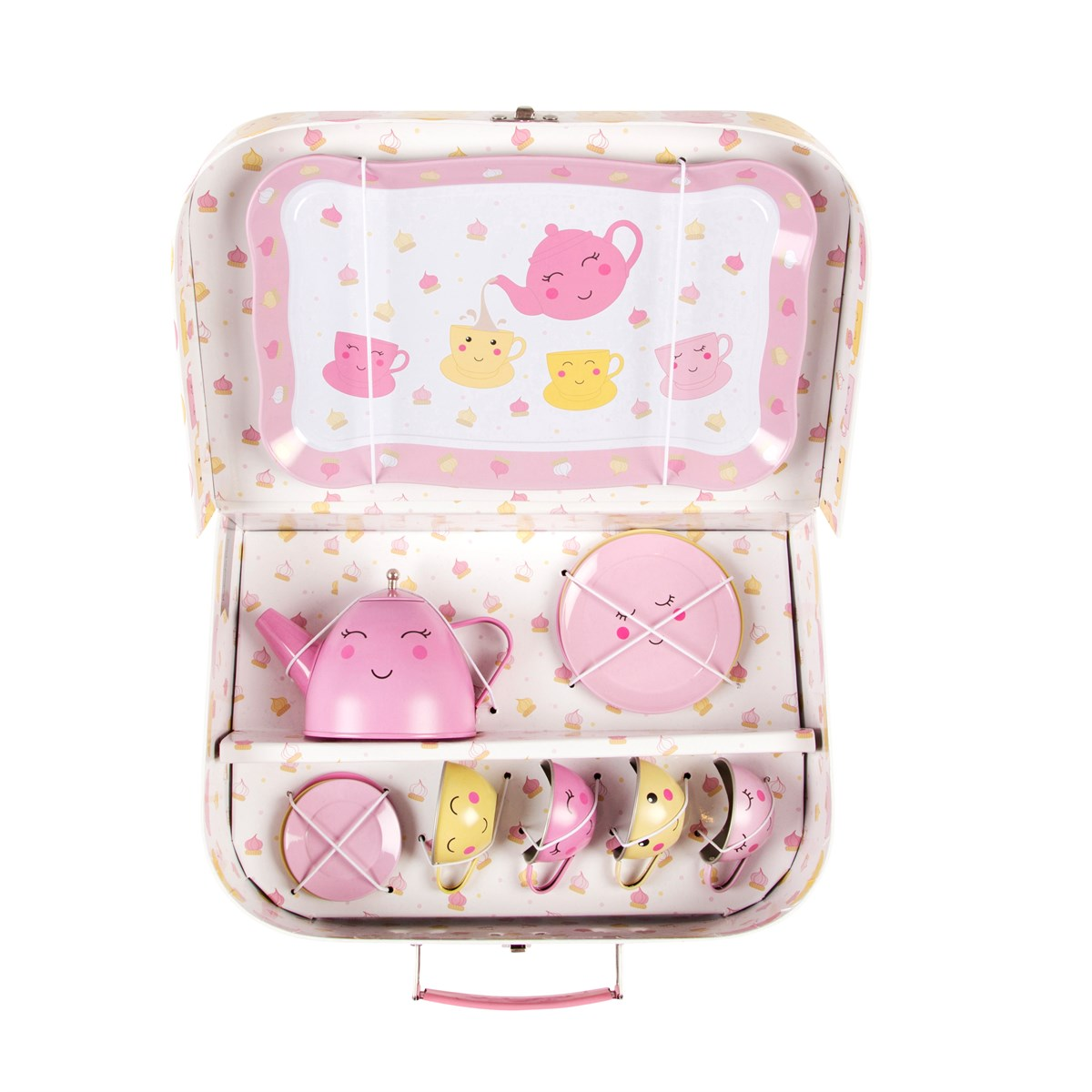 Piknick box tea set - Happy