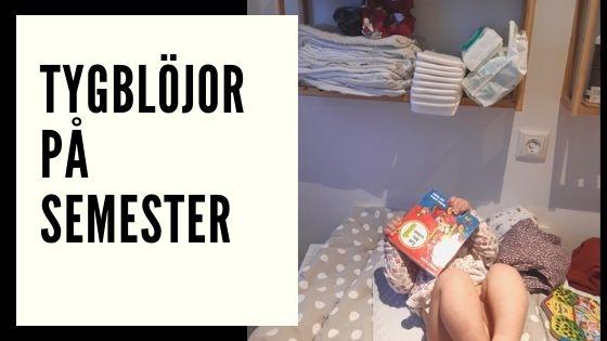 Tygblöjor på semester med tvättmaskin