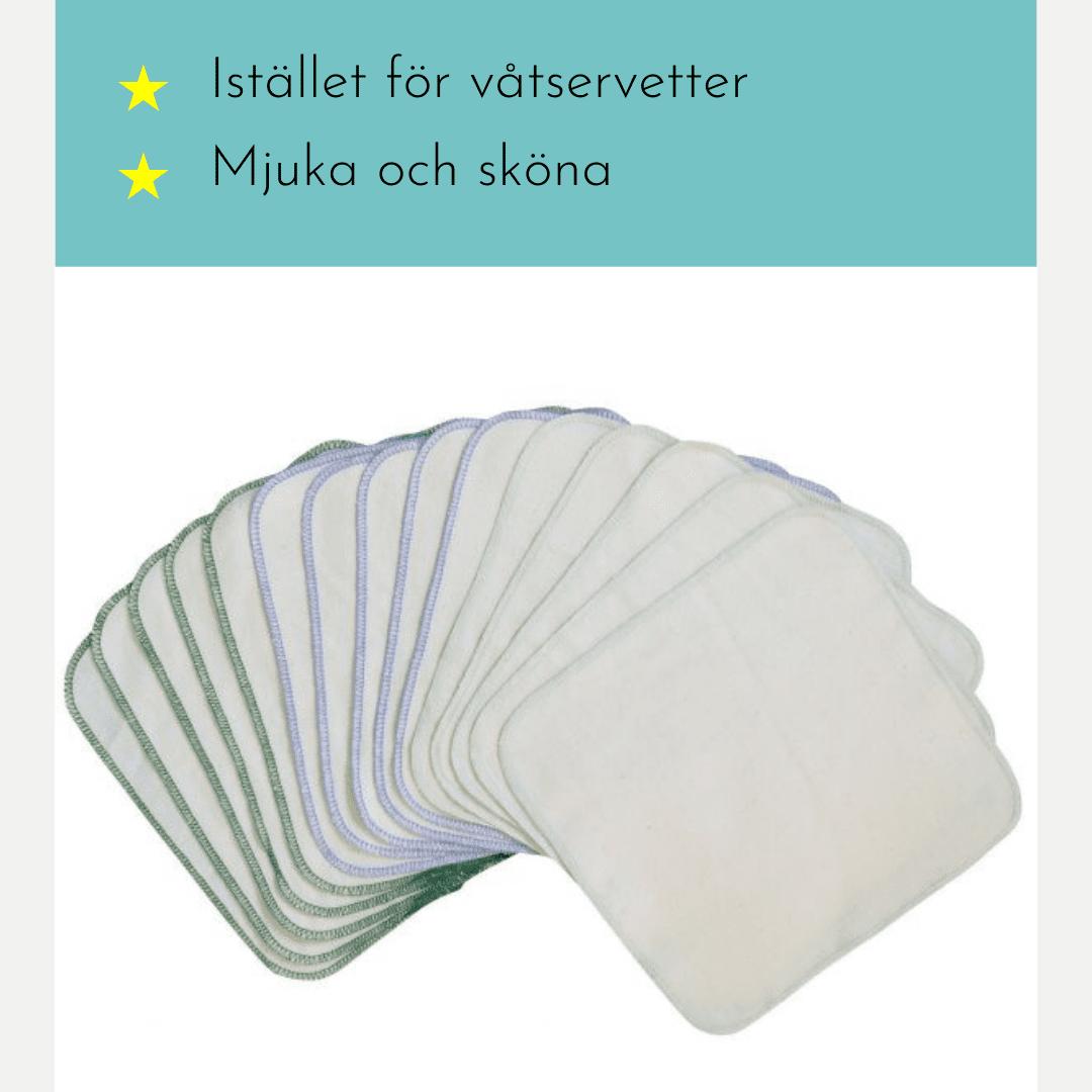 Tvättlappar - Fluffrumpan
