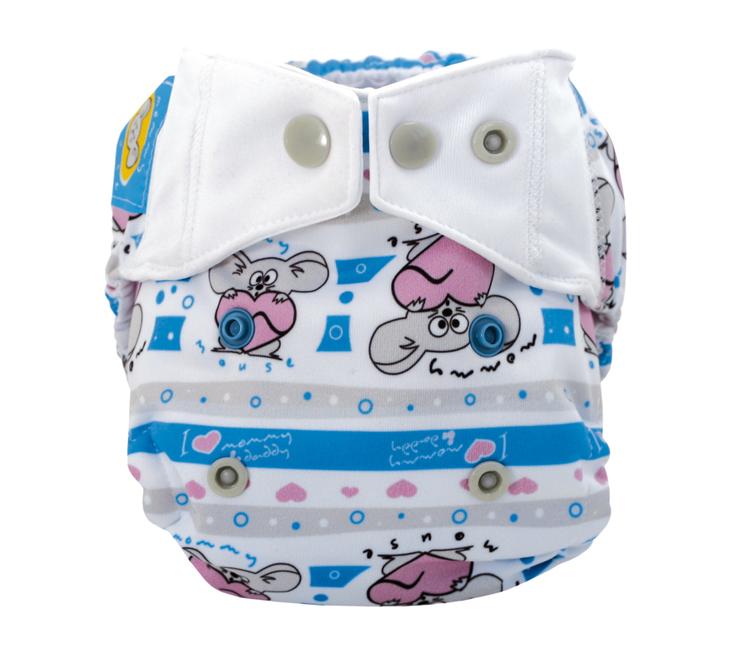 Mommy Mouse ytterbyxa - Nyfödd - Olika mönster