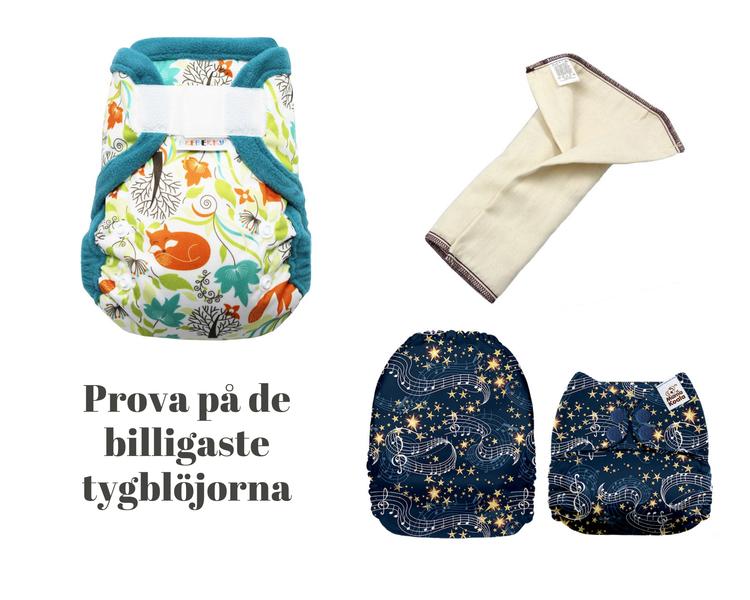 Paket Sparsam - Startpaket med billiga tygblöjor