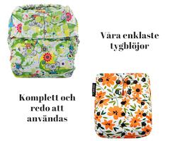 Paket Enkelt - Startpaket med lättanvända tygblöjor
