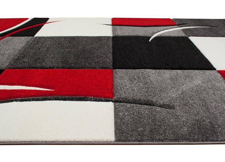 Essex Röd Patch - Maskinvävda Mattor
