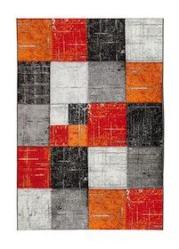Essex Square Röd/orange - Maskinvävda Mattor