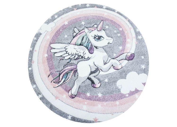 Moji Unicorn 120 Rund - Barnmattor