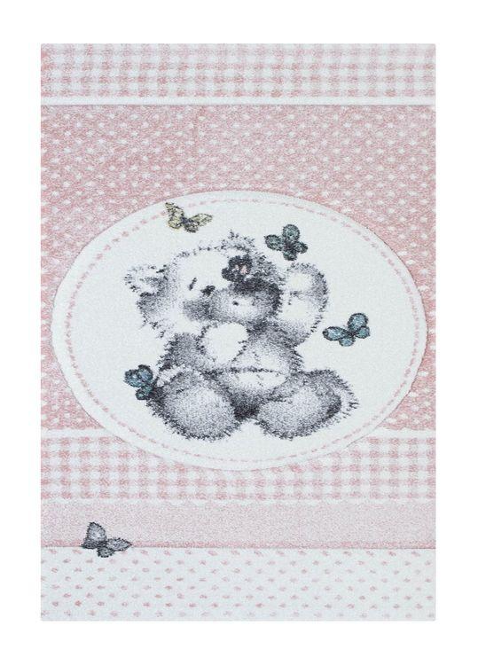 Moji Teddybear 120x170 Rosa - Barnmattor