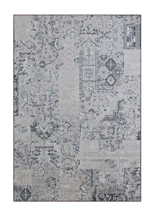Farao Patch Old Grey - Konstsilkesmattor